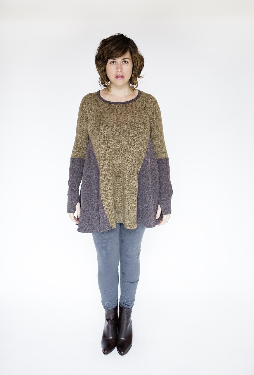 Cassandra Printed Tunic - Brown