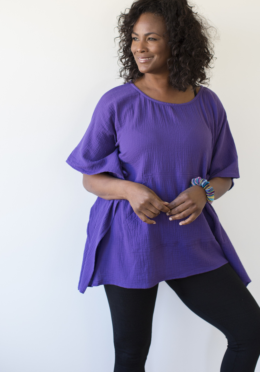 Gaucha Tunic - Purple