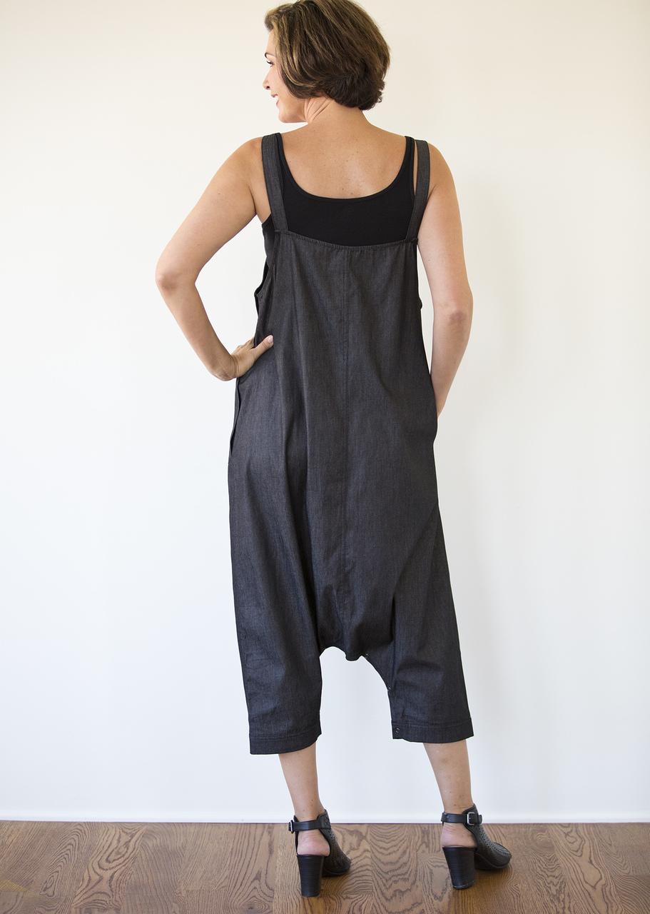 Denim Jumpsuit - Black