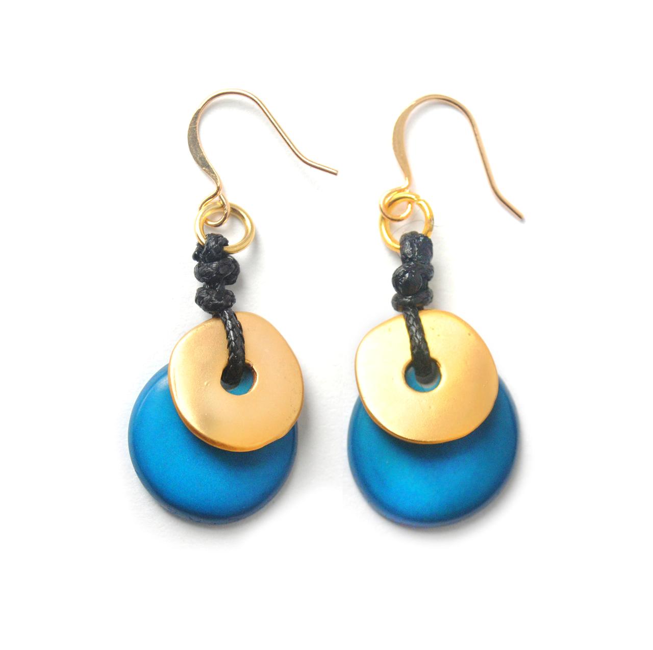 Moon Eclipse Earrings –Blue