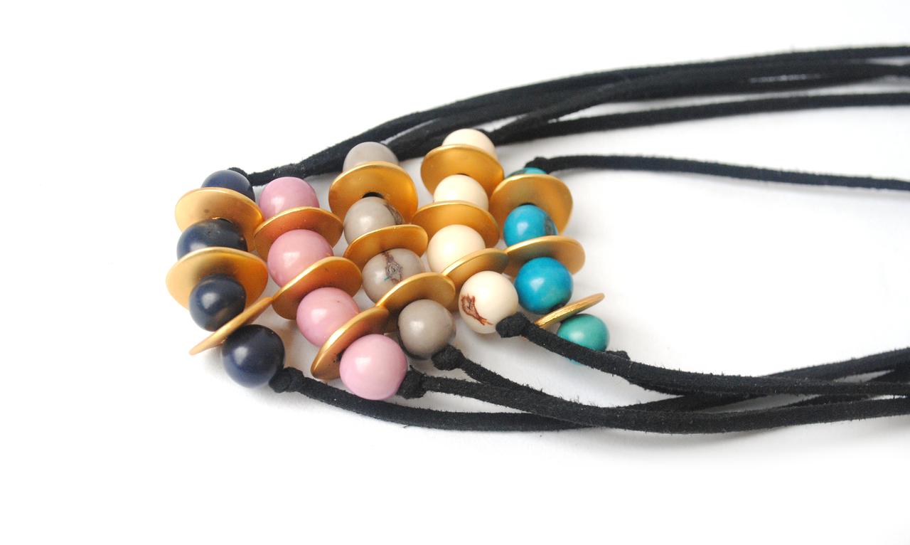 Meteor Shower Necklace –Navy