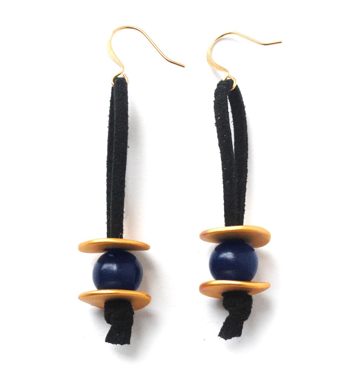 Meteor Shower Earrings –Navy