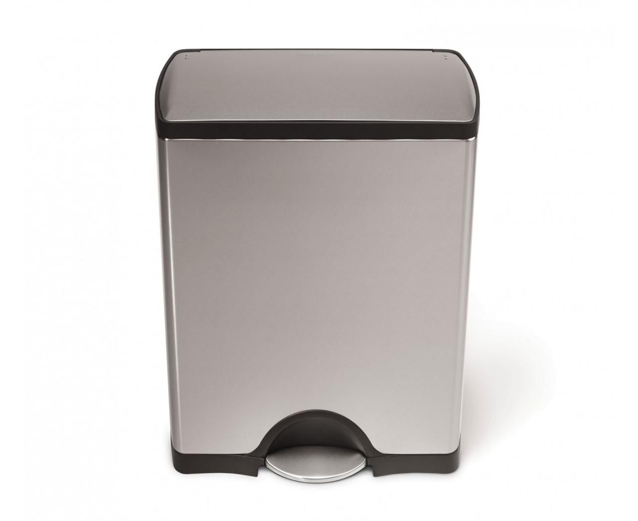 Simplehuman 50 Litre Stainless Steel Rectangular Kitchen Bin