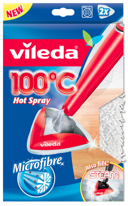 Vileda Steam and 100°C Microfibre Refill Pads