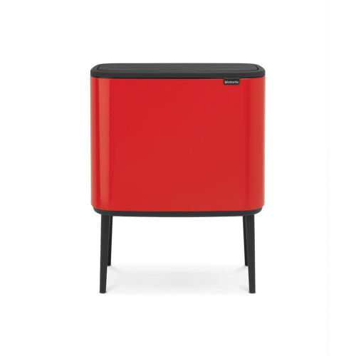 Bo Touch Bin With 2 Inner Buckets, 11 + 23 Litre - Passion Red