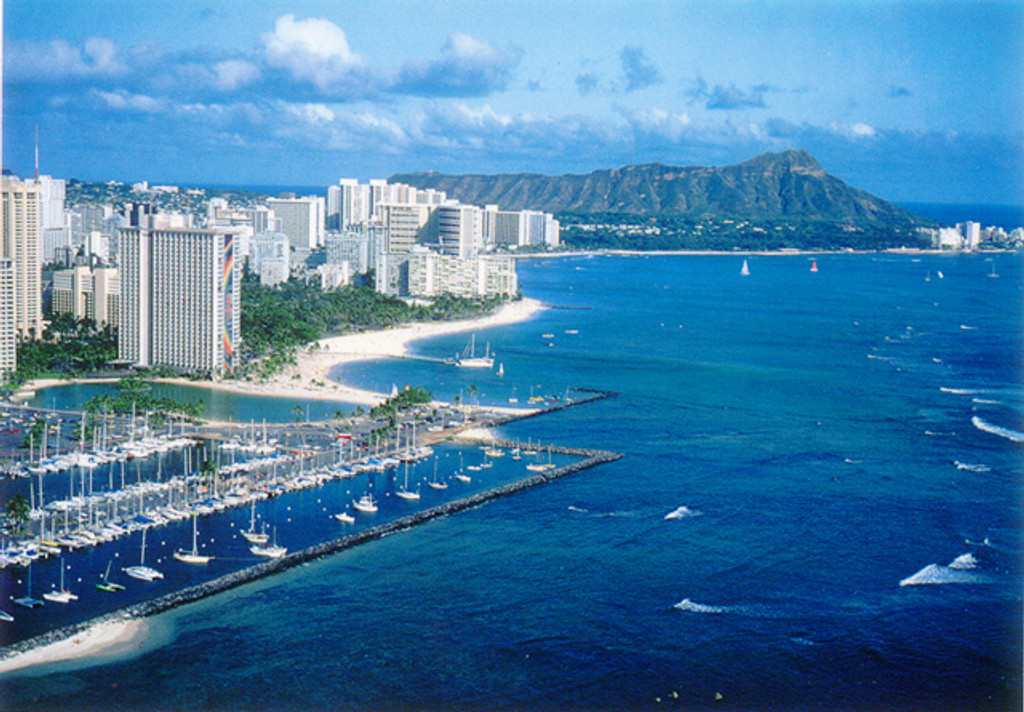 P240 - Waikiki Beach Postcard 50 Pack