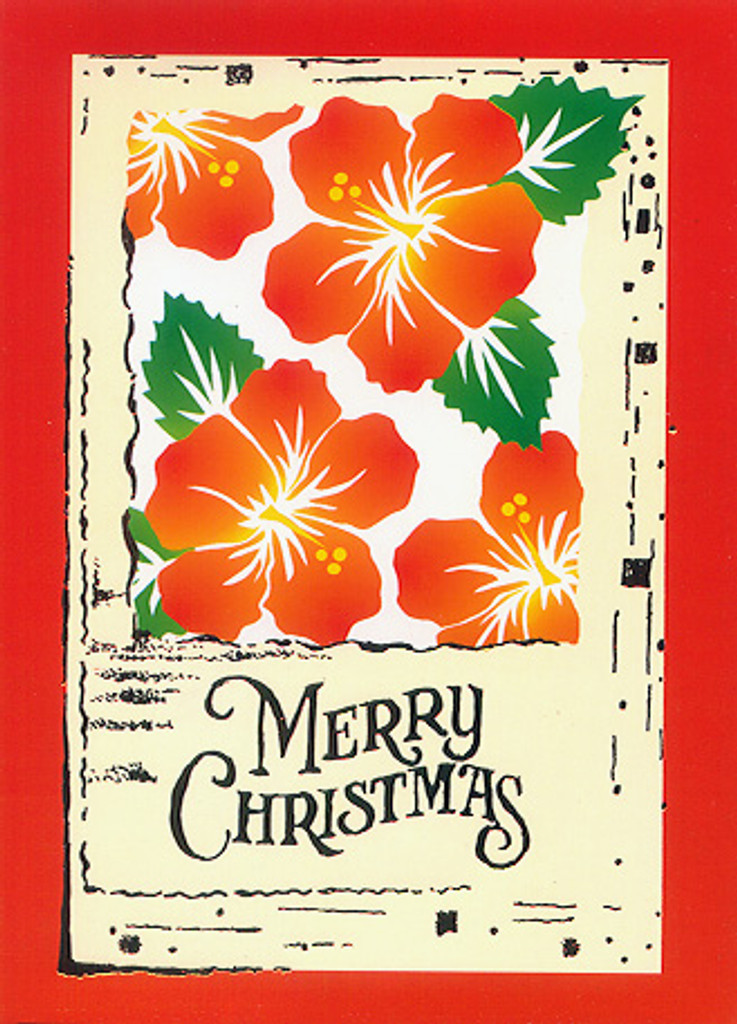 Christmas Cards - Coral Cards - CF1328 / Red Hibiscus / 10 cards per box