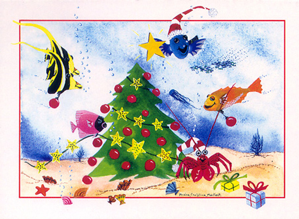 Christmas Cards - Coral Cards - C0603 / Undersea Tree / 10 cards per box