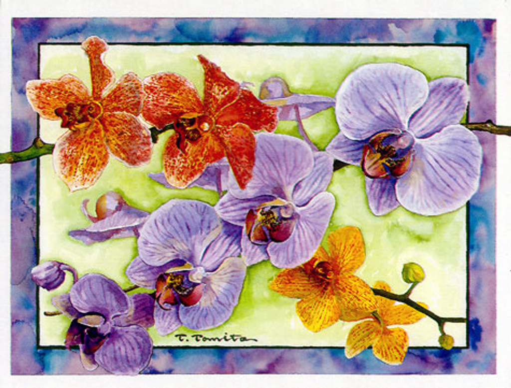 Orchid notes - Boxed Notecards