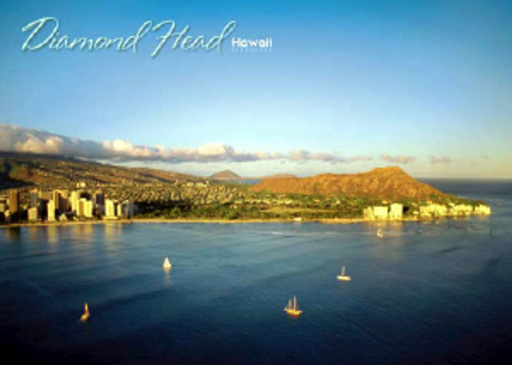 Diamond Head Hawaii 5x7 Postcard 25 Pack