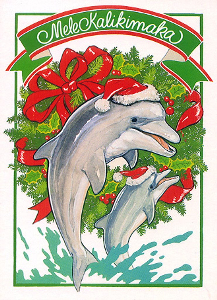 Christmas Cards - Coral Cards - C0501 / Two Dolphins / 10 cards per box