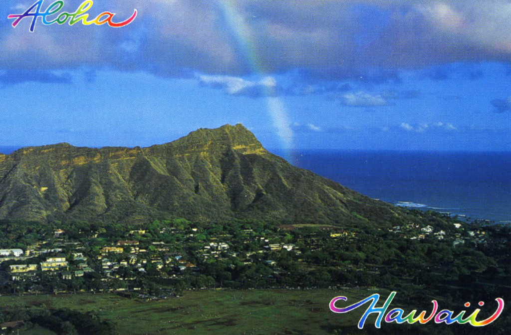 P726 - Diamond Head Green Postcard 50 Pack
