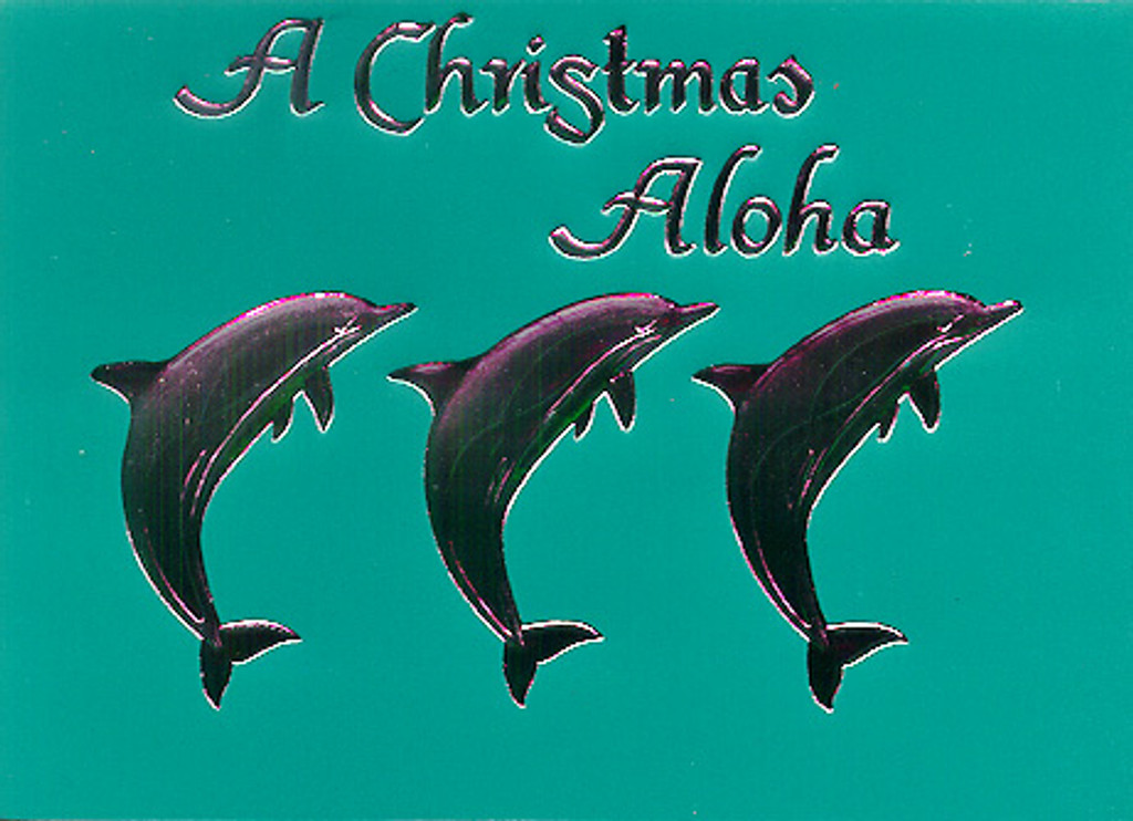 Christmas Cards - Coral Cards - CF1303 / Three Dolphin Assortment / 10 cards per box