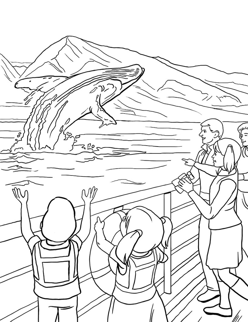 Hawaiian Islands Coloring Book