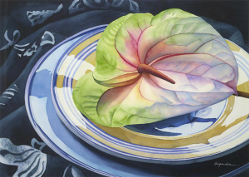 Anthurium and Plates - Notecard 6 Pack