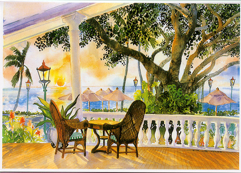 Terrace at the Moana - Notecard 6 Pack
