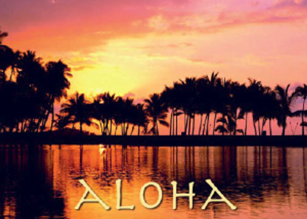 Aloha Sunset 5x7 Postcard 25 Pack