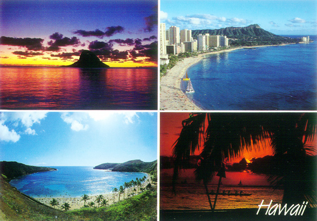 P251 - Hawaii Collage Postcard 50 Pack