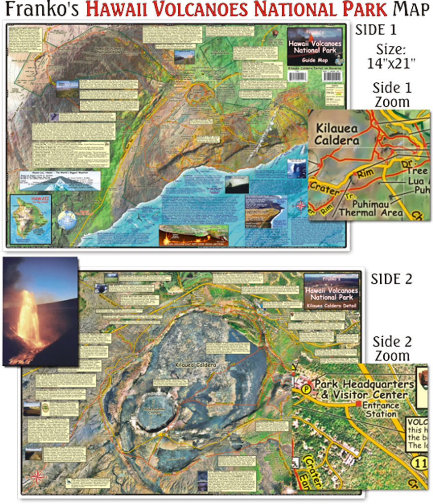 Hawai'i Volcanoes National Park Map  (Laminated)