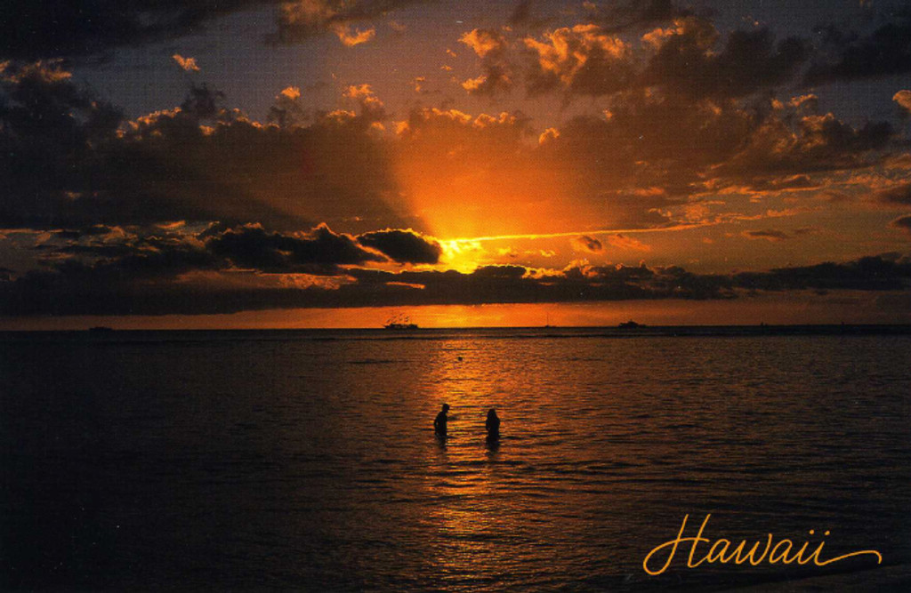 P816 - Sunset - Couple Postcard 50 Pack