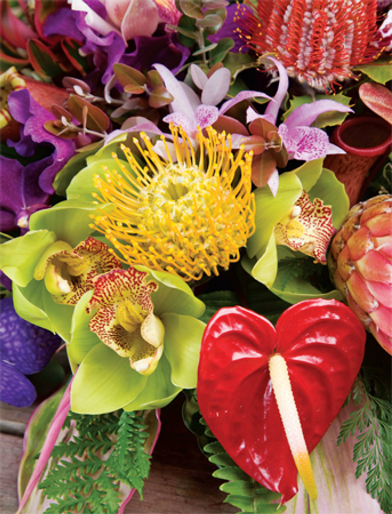 Tropical Bouquet notes - Boxed Notecards