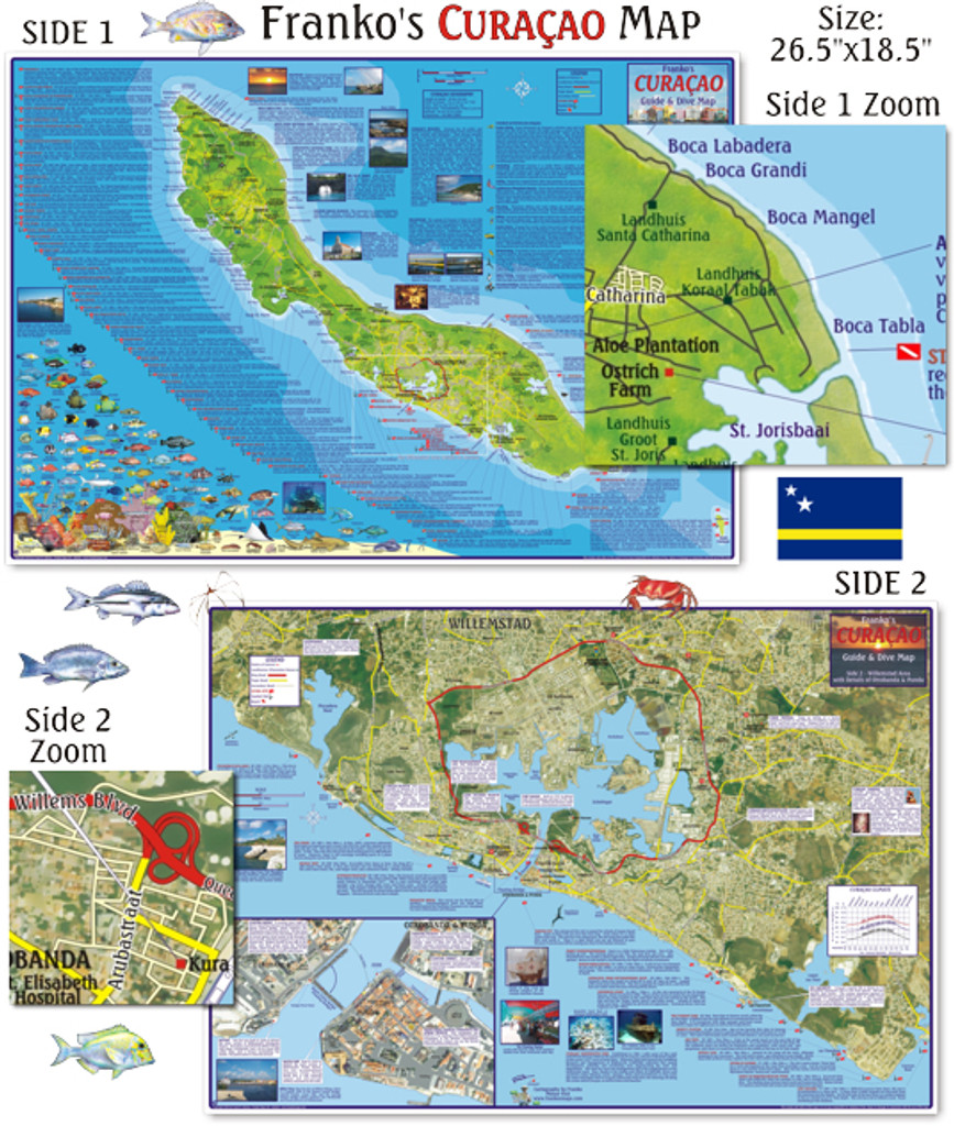Curacao Guide & Dive Map (folded)
