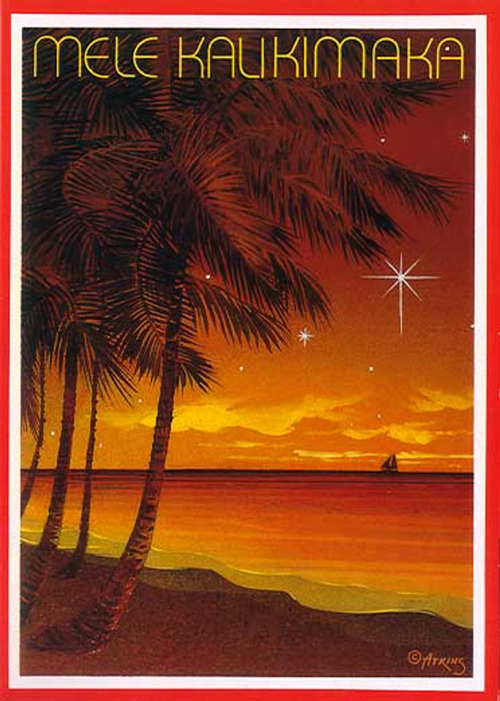 Christmas Cards - Great Creations - X0068 / Scenic Sunset Sail / 10 cards per box