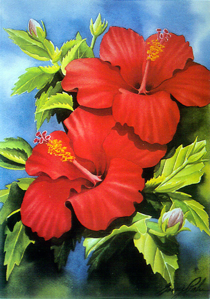 Red Hibiscus - Notecard 6 Pack