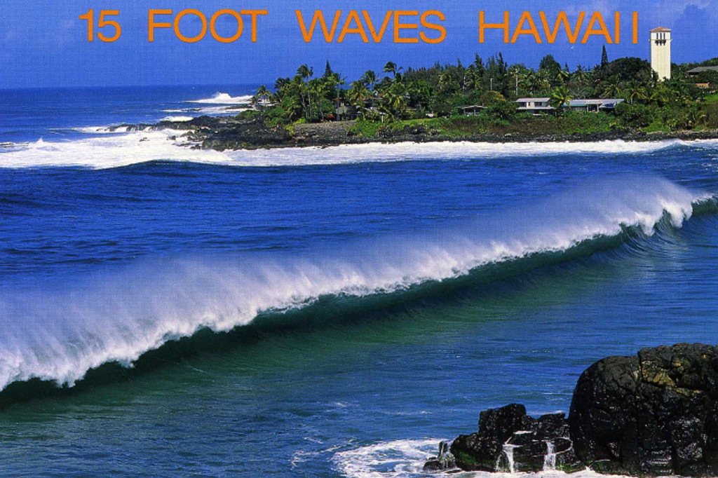 P822 - 15 Ft Waves Postcard 50 Pack