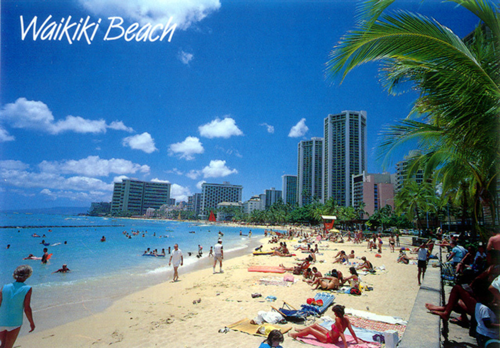 P223 - Waikiki Beach Postcard 50 Pack
