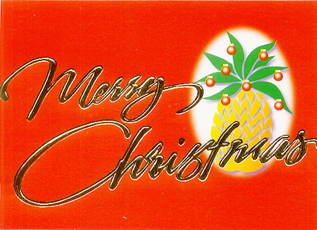 Christmas Cards - Coral Cards - CF1325 / Christmas Pineapple Tree / 10 cards per box