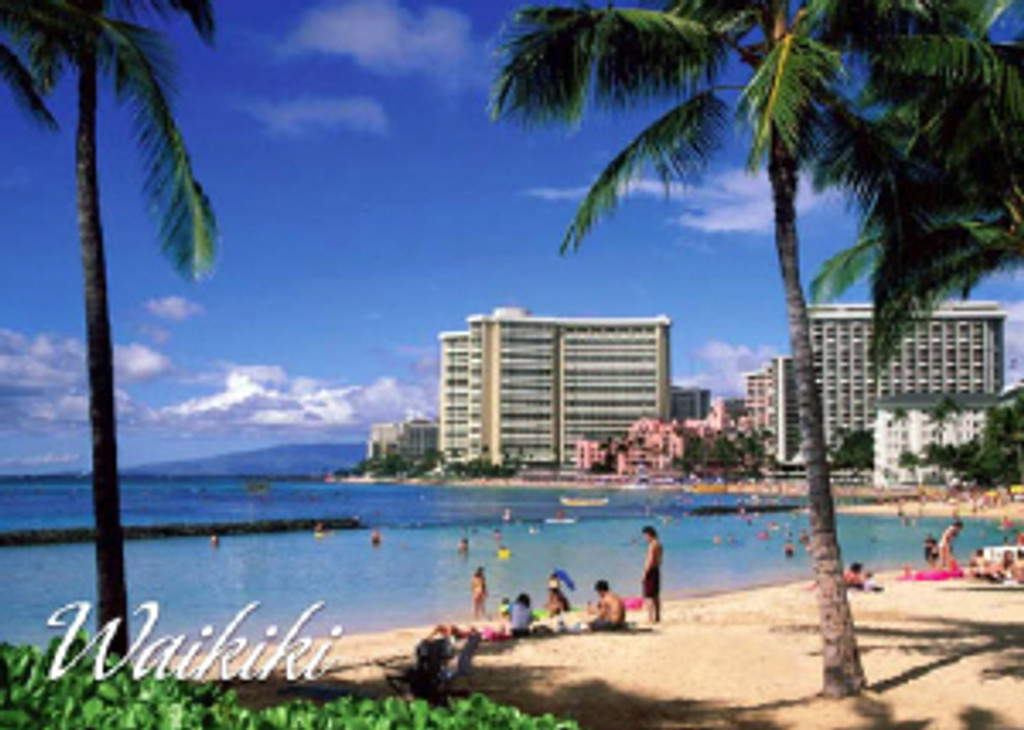 Waikiki Beach 5x7 Postcard 25 Pack 1