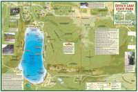 Wisconsin Map - Devil's Lake State Park Guide
