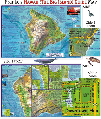 Hawaii (Big Island) Guide Map (Laminated)