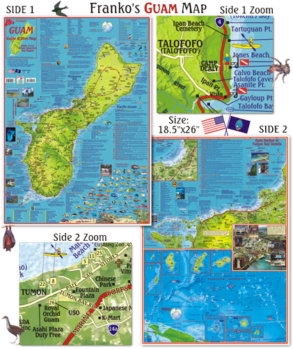 Guide Map of Guam U.S.A. (Folded)