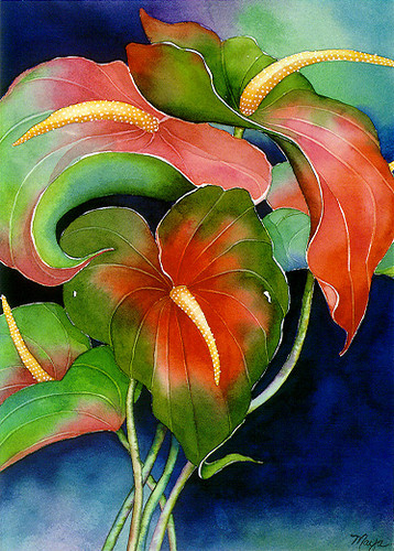 Anthurium - Notecard 6 Pack