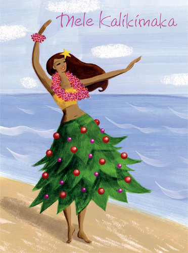 Christmas Cards - Coral Cards - Hula Tree / 10 cards per box
