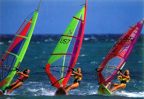 P021 - Girl Windsurfers Postcard 50 Pack