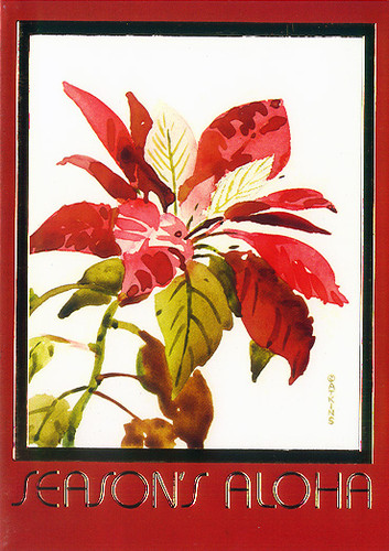 Christmas Cards - Great Creations - XF0045 / Poinsettia / 10 cards per box