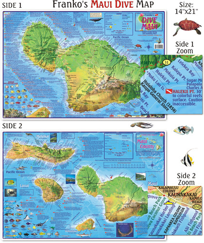 Maui Dive Map (Laminated)
