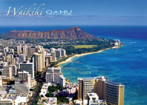 Diamond Head Waikiki 5x7 Postcard 25 Pack