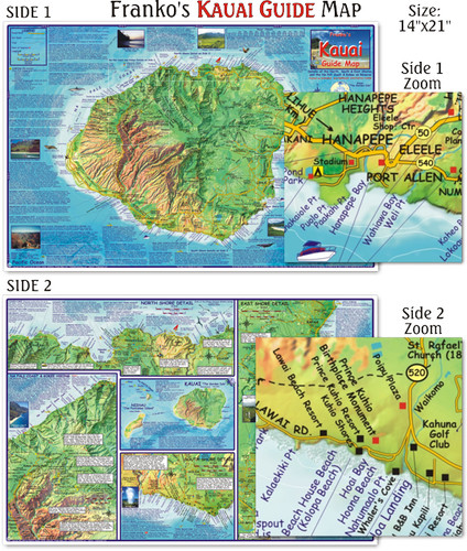 Kauai Guide Map (Laminated)