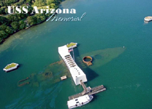 USS Arizona Memorial 5x7 Postcard 25 Pack