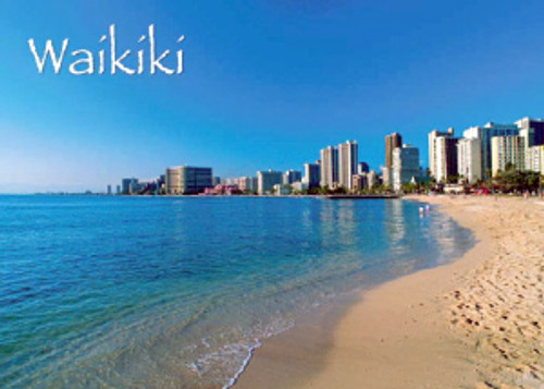 Waikiki Beach 5x7 Postcard 25 Pack