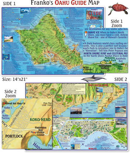 Oahu Guide Map (Laminated)