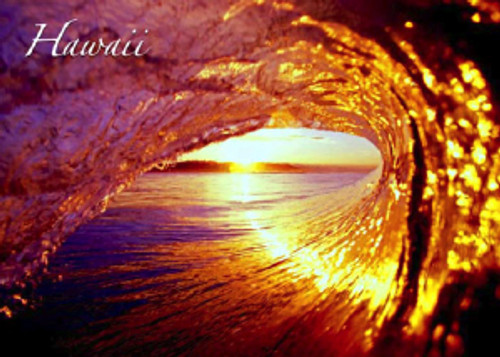 Sunset Tube Wave 5x7 Postcard 25 Pack