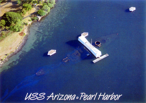 P206 - USS Arizona Memorial Postcard 50 Pack