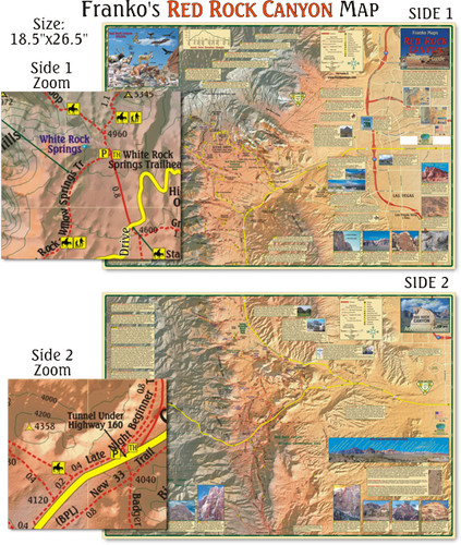 Red Rock Canyon Trails Map (Folded)
