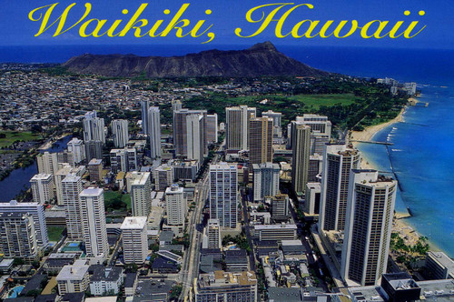 P708 - Diamond Head Postcard 50 Pack