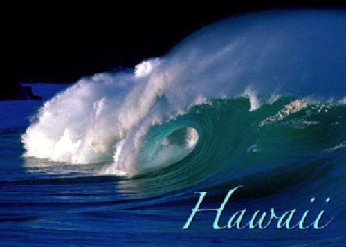 Wave Hawaii 5x7 Postcard 25 Pack